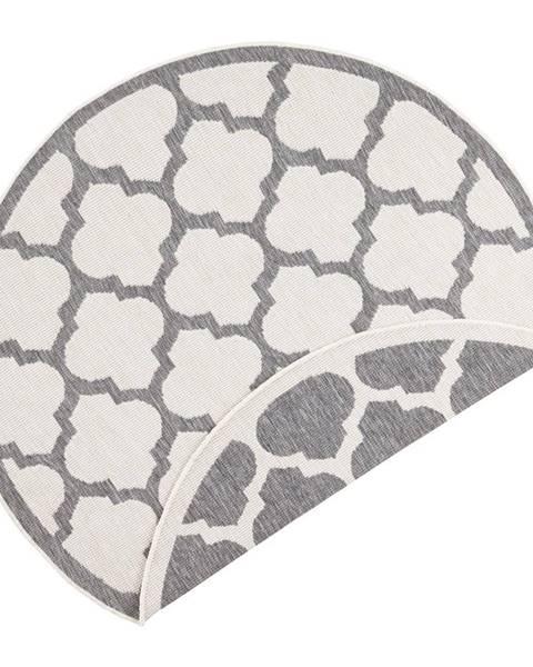 Bougari Sivo-krémový vonkajší koberec Bougari Palermo, ⌀ 140 cm