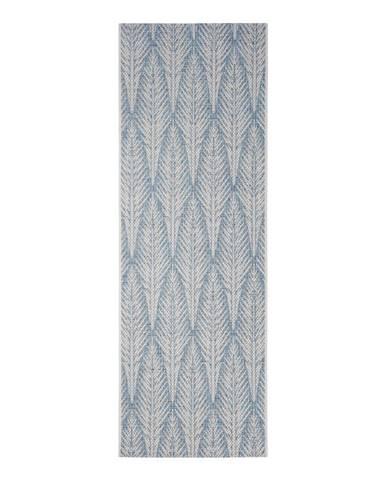 Sivomodrý vonkajší koberec Bougari Pella, 70 x 200 cm