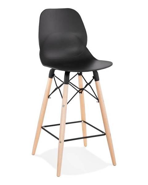 Kokoon Čierna barová stolička Kokoon Marcel Mini, výška sedu 68 cm