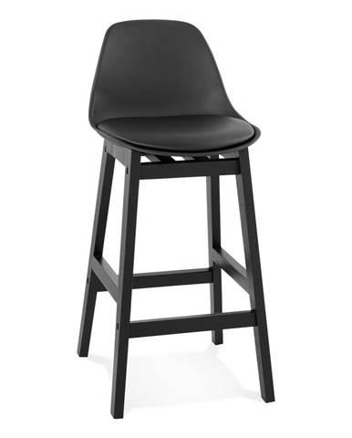 Čierna barová stolička Kokoon Turel, výška sedu 64 cm