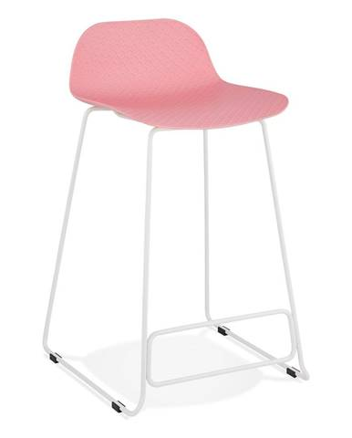 Ružová barová stolička Kokoon Slade Mini, výška sedu 66 cm