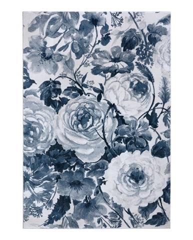Svetlomodrý koberec Mint Rugs Peony, 80 x 150 cm