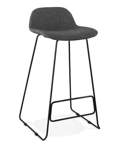 Tmavosivá barová stolička Kokoon Vancouver, výška sedu 76 cm