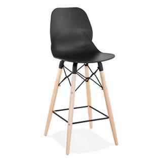 Čierna barová stolička Kokoon Marcel Mini, výška sedu 68 cm