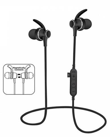 Slúchadlá bezdrôtové, PM1060 BLUETOOTH čierne + vstavaný MP3 prehrávač + MIC