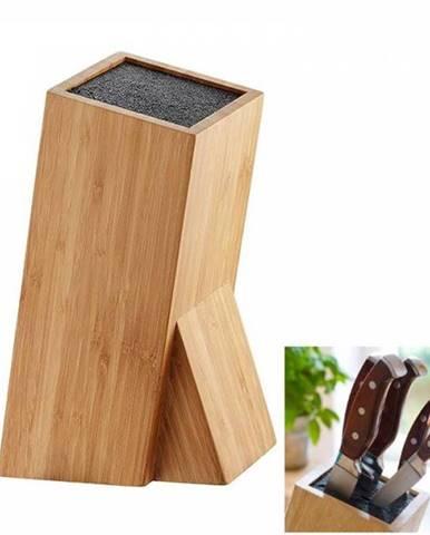 Stojan na nože Bambus štvorec 10x10x26 cm