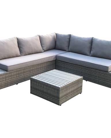 Kasano záhradný nábytok z umelého ratanu tmavosivá