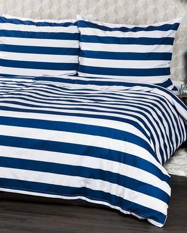 4Home bavlnené obliečky Navy, 220 x 200 cm, 2 ks 70 x 90 cm