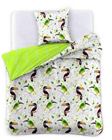 DecoKing Saténové obliečky Toucan, 140 x 200 cm, 70 x 90 cm