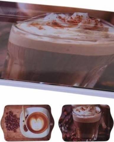 Podnos melamín 21x14cm, dizajn káva