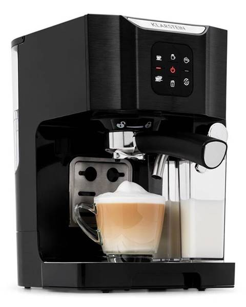 Klarstein Klarstein BellaVita, kávovar, 1450 W, 20 bar, napeňovač mlieka, 3 v 1, čierny