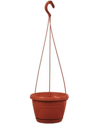Květník závěsný LOGATO s podmiskou plast 25x17cm terakota