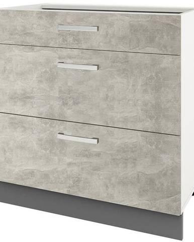 Skrinka do kuchyne Charlotte 60lcdr Grey Graphite/Light Atelier