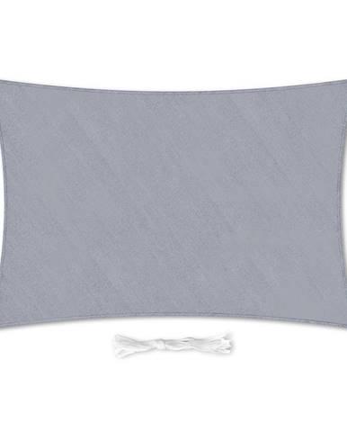 Blumfeldt Pravouhlá slnečná clona, 3x4 m, s upevňovacími krúžkami, polyester, priedušná, svetlosivá