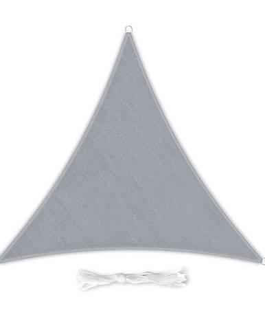 Blumfeldt Trojuholníková slnečná clona, 3 × 3 × 3 m, s upevňovacími krúžkami, polyester, priedušná