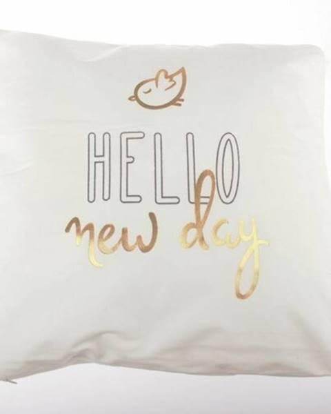 Bellatex Dakls Obliečka na vankúšik Hello new day biela, 45 x 45 cm