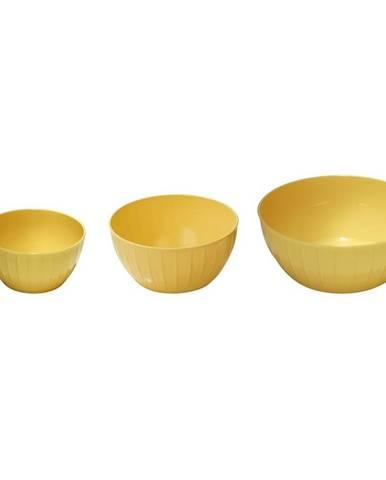 Tescoma Plastové misy DELÍCIA 3 ks, žltá