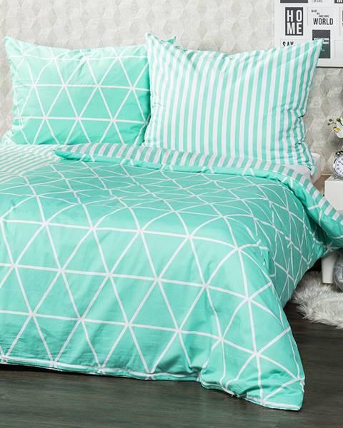 4Home 4Home Bavlnené obliečky Galaxy zelená, 160 x 200 cm, 70 x 80 cm