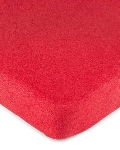 4Home froté prestieradlo červená, 90 x 200 cm