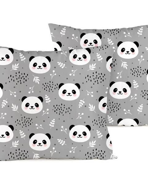 4Home 4home Obliečka na vankúšik Nordic Panda krep, 40 x 40 cm