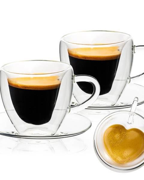 4Home 4Home Termo pohár šálka s podšálkou Heart Hot&Cool, 150 ml, 2 ks