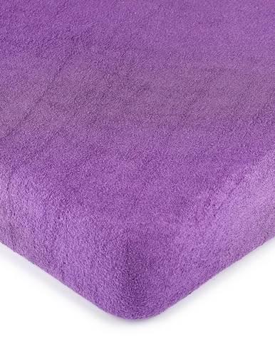 4Home froté prestieradlo fialová, 90 x 200 cm