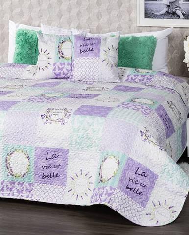 4Home Prehoz na posteľ Lavender, 220 x 240 cm, 2 ks 40 x 40 cm