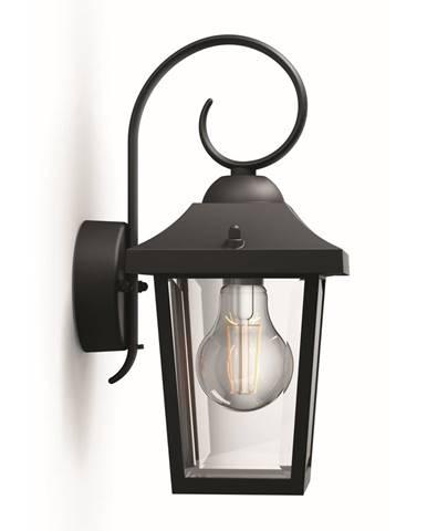 Philips 17236/30/PN Buzzard Vonkajšie nástenné svietidlo 29 cm, čierna