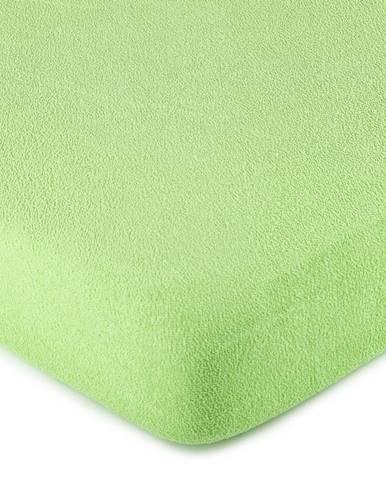 4Home froté prestieradlo zelená, 160 x 200 cm