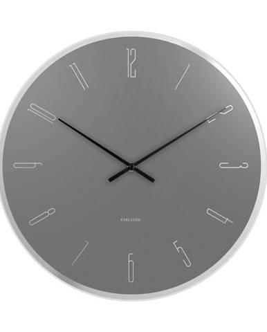 Designové nástěnné hodiny 5800GY Karlsson 40cm