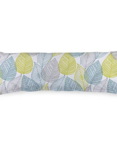 4Home Obliečka na Relaxačný vankúš Náhradný manžel Nordic Leaves, 55 x 180 cm