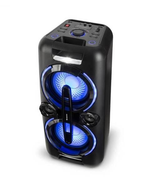 Auna Auna Bazzter, párty zvukový systém, 2 x 50 W RMS, akumulátor, BT, USB, MP3, AUX, FM, LED, mikrofón