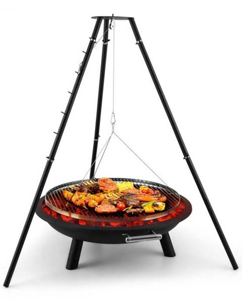 Blumfeldt Blumfeldt Arco Trino, otočný gril, ohnisko, BBQ, trojnožka, nerezová oceľ