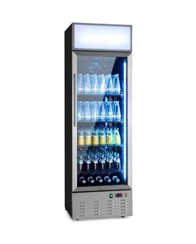 Klarstein Berghain, chladnička na nápoje, 278 l, RGB vnútorné osvetlenie, 210 W, 2 – 8 °C, ušľachtilá oceľ