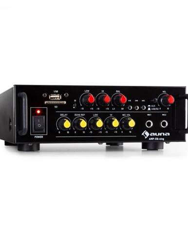 Auna Pro Amp EQ BT, HiFi karaoke zosilňovač, 2 x 30 W RMS, BT, USB, SD, 2 x mikrofónový vstup