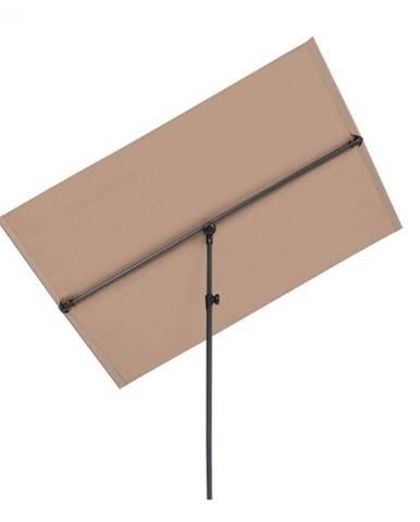Blumfeldt Flex-Shade L, slnečník, 130 x 180 cm, polyester, UV 50, sivohnedá