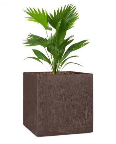 Blumfeldt Solid Grow Rust, kvetináč, 40 x 41 x 40 cm, fibreclay, hrdzavá farba