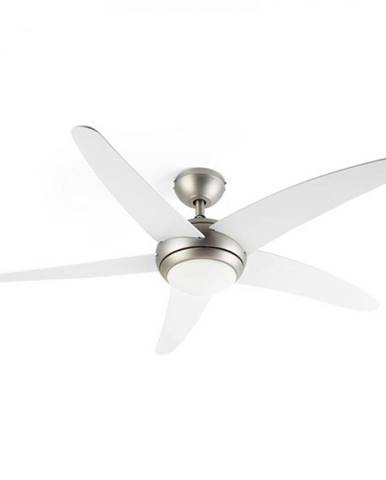 Klarstein Bolero, 2 v 1 stropný ventilátor, 134 cm, svetlo, 55 W, diaľkový ovládač, biely