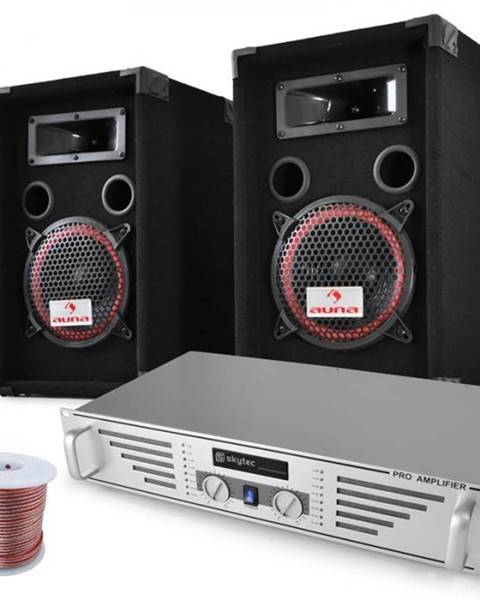 "Electronic-Star Electronic-Star DJ PA sada ""Funky Breakbeats"", AMP, reproduktory, 1000 W"