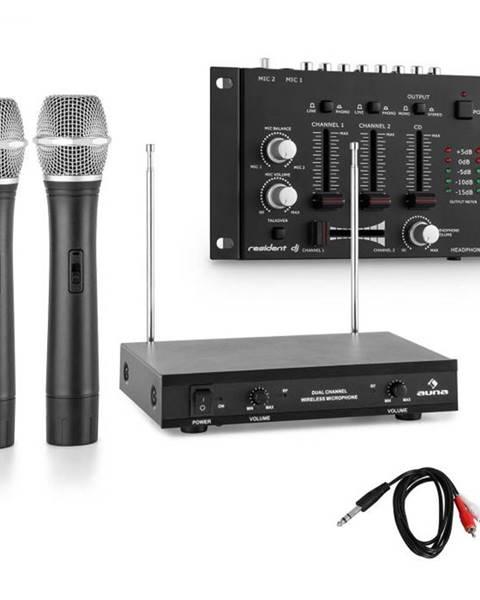 Electronic-Star Electronic-Star Sada bezdrôtových mikrofónov s 3-kanálovým zosilňovačom, čierna