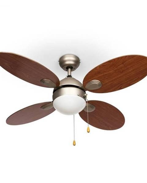 """Klarstein Klarstein Valderama, stropný ventilátor, 42"""", 60 W, stropná lampa, 2 x 43 W, čerešňové drevo"""