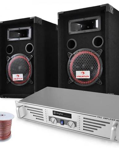 "Electronic-Star DJ PA sada ""Funky Breakbeats"", AMP, reproduktory, 1000 W"