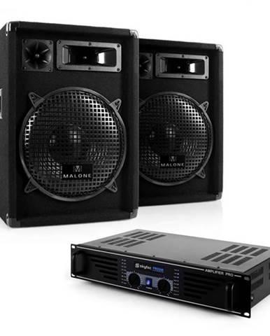 "Electronic-Star Kompletná DJ PA sada ""Nizza Nights"", zosilňovač, 2 x reproduktor"