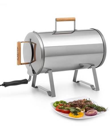 Klarstein Gourmet Barrel, udiareň, nehrdzavejúca ušľachtilá oceľ 0,6 mm, držadlá z dreva, strieborná