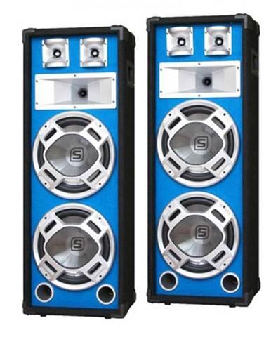 Skytec pár 20 cm PA reproduktorov, svetelený efekt, modrý, 2 x 600 W reproduktory