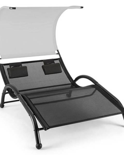 Blumfeldt Blumfeldt Dandyland, dvojité hojdacie ležadlo, 130 x 200 cm, strieška proti slnku, šedé