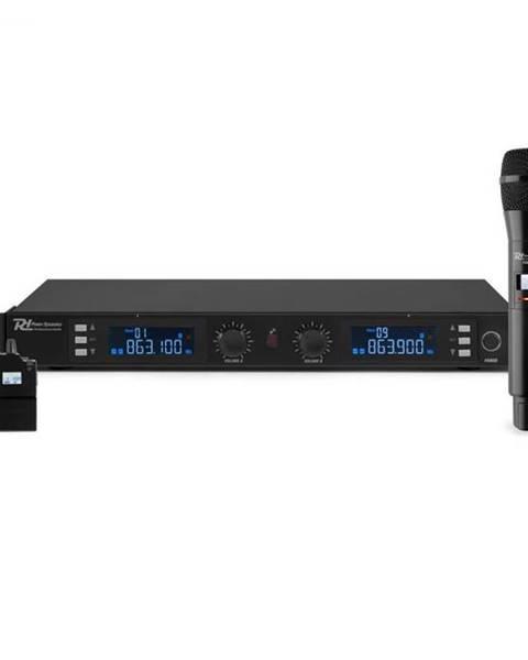 Power Dynamics Power Dynamics PD632C 2X, 20-kanálová sada UHF bezdrôtových mikrofónov, 1 x ručný/1 x headset mikrofón