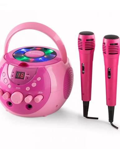 Auna SingSing, prenosný karaoke systém, LED, prevádzka na batérie, 2 x mikrofón