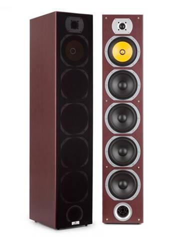 Auna V7B 4-cestné basreflexné stojace reproduktory, vežová konštrukcia, 440W, mahagónová farba