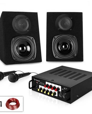 """Electronic-Star Karaoke párty set """"Ponny´s Ranch NEO"""", zosilňovač, reproduktor & 2 x mikrofón"""